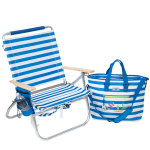 Blue/White stripe with surfers